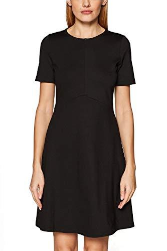 ESPRIT Damen 029EE1E016 Kleid, Schwarz (Black 001), Medium (Herstellergröße: M)