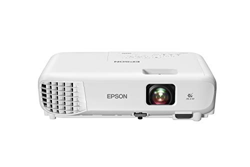 Epson VS260 3-Chip 3LCD XGA Projector, 3,300 Lumens Color Brightness, 3,300 Lumens White Brightness, HDMI, Built-in Speaker, 15,000:1 Contrast Ratio, Small