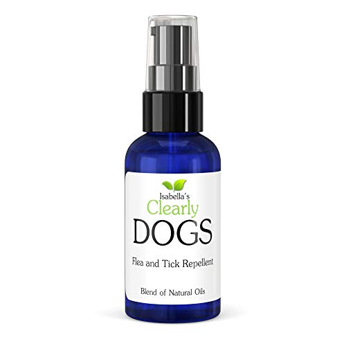 Isabella's Clearly Dogs Natural & Safe Topical Formula Proven to Repel Ticks and Fleas. Effective Essential Oils Including Cedarwood, Peppermint, Lavender, Lemongrass. Made in USA. 2 oz