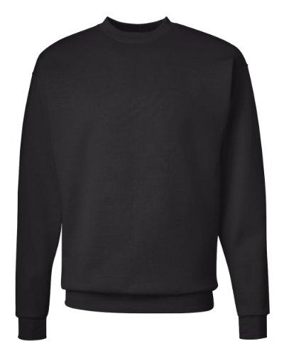 Hanes Men's EcoSmart Sweatshirt, Black, Large