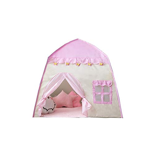 SYXX Kinder Zelt, Baby-Innen- und Außenspielhaus, Prinzessin Castle, Kinder Zelt, rosa Prinzessin Zelt, bewegliche faltbare Pop-up-Zelt Play House Indoor-und Outdoor-Spiele