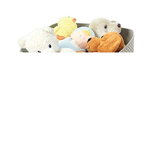 mDesign - Opbergboxen - opbergmanden - ideaal/kubusvormig/stof/met handvatten/voor opruimen en creëren nieuwe opbergruimte/veelzijdig/chevron patroon - taupe/natuurlijke kleur
