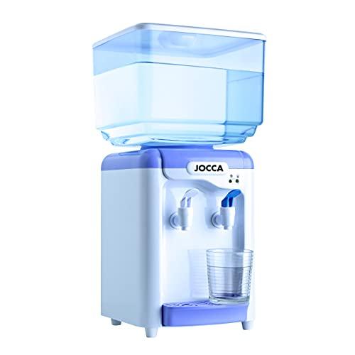 Jocca Dispensador de Agua con depósito de 7 litros, Blanco y azul, 24.5 x 23 x 34 cm