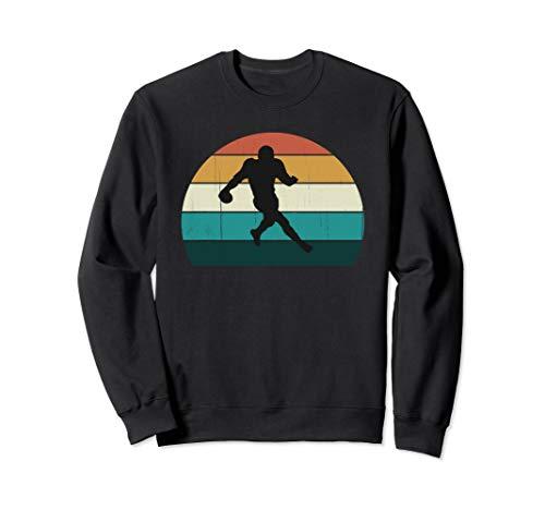 Vintage American Football Spieler Geschenk: Retro USA Sweatshirt