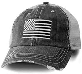 USA American Flag Baseball Cap Black