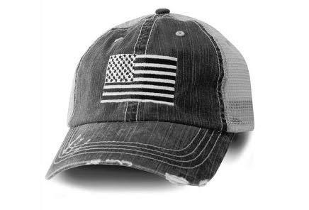 Honor Country USA American Flag Baseball Cap Black