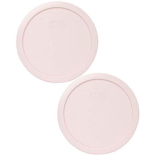 Pyrex 7402-PC Loring Pink Plastic Food Storage Replacement Lids - 2 Pack
