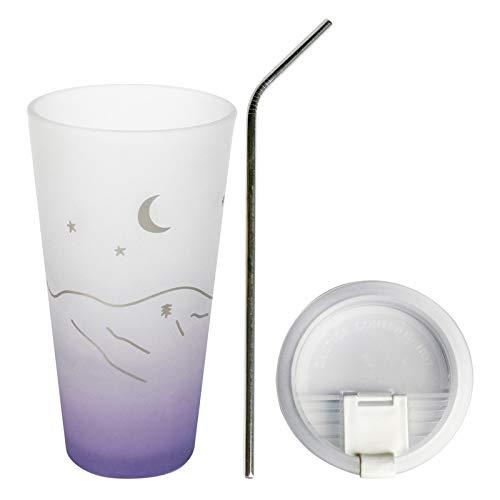 Glas Stroh Trinkbecher Erwachsene große Kapazität hitzebeständige Milch Tasse Tee Tasse kreative eingedickte Saft kalt Getränk Tasse