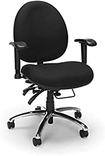 OFM Core Collection 24 Hour Big and Tall Ergonomic Task Chair - Computer Desk Swivel Chair with Arms, in Black