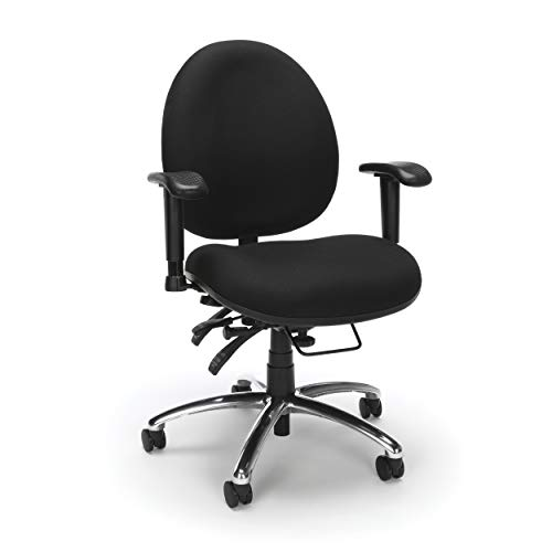 OFM Core Collection 24 Hour Big and Tall Ergonomic Task Chair - Computer Desk Swivel Chair with...