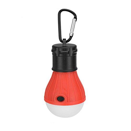 Camping-Laterne, wasserdicht, Karabiner, Taschenlampe, batteriebetrieben, tragbar, für den Außenbereich rot