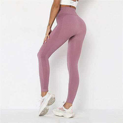 Leggings Leggings Yoga Elastici Fitness Leggings Sportivi Senza Cuciture Pantaloni da Allenamento Allenamento Palestra Push-Up Leggings Yoga da Allenamento Active L Light