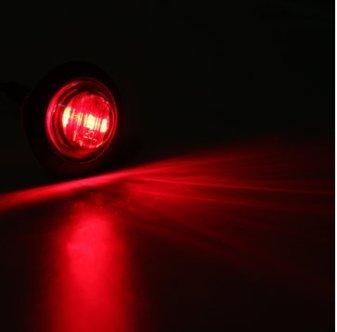 Alamor 12V/24V Mini Ronde LED Bullet Bouton Latéral Feux De Signalisation Métal-Rouge