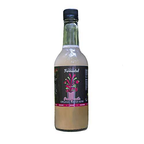 Freshly Fermented – Organic & Certified Pomegranate Water Kefir Drink - 6 x 500ml Bottles