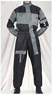 1 Piece Motorcycle Rain Suit Black/Gray XL 141[並行輸入]