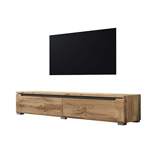 Selsey Swift - Mueble TV Moderno/Mesa para TV/Mueble para Salón (140 cm, sin LED, Roble Dorado)