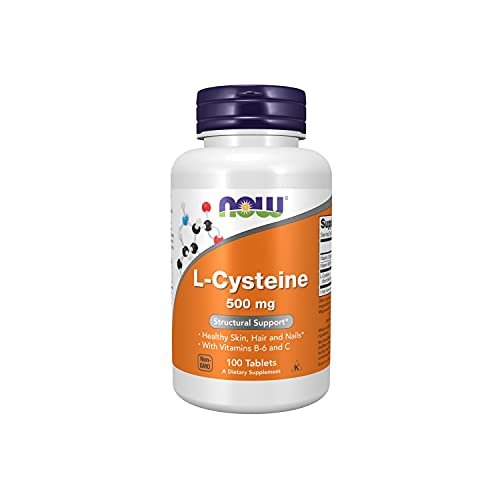 NOW Supplements  L-Cysteine 500 mg with Vitamins B-6 and C  Structural Support*  100 Tablets