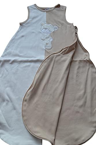 Jacky Baby Saco de dormir sin forro con diseño de peluche, color beige, beige, 80 cm