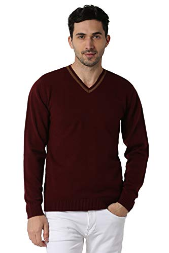 Peter England Men's Synthetic Sweater (PCSWCRGB097303_Maroon_S)