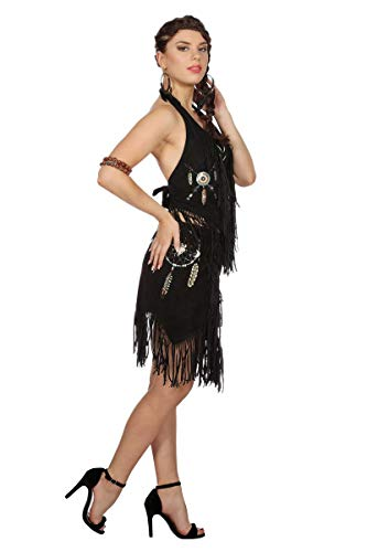Damen Kostüm Western Indianer Rock Karneval Fasching schwarz