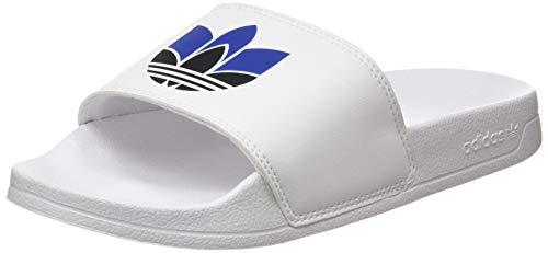 adidas Adilette Lite W, Scarpe da Ginnastica Donna, Ftwr White/Core Black/Team Royal Blue, 42 EU