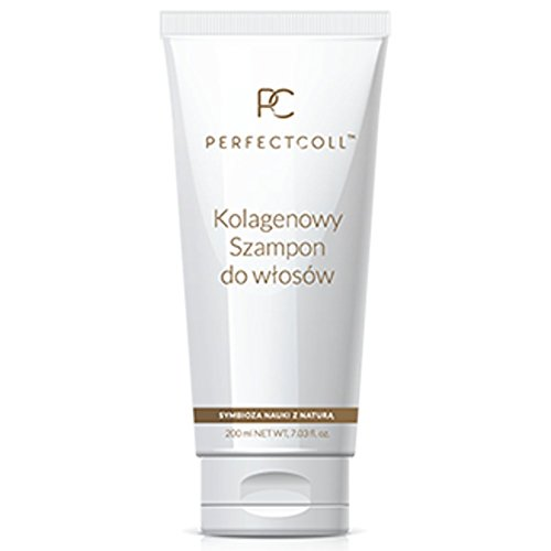 Perfect-coll Collagène Shampoing nourrissant Gentle Cleanshing Soin des Cheveux Naturel Bio 200 ml