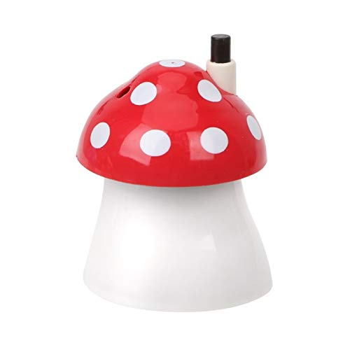 Toothpick Dispenser Toothpick Dispenser Tableware Toothpick Storage Container Box Dust-proof Toothpick Holder Automatic Plastic Creative Mushroom Shape Toothpick Holder Dispenser (Color : Red)