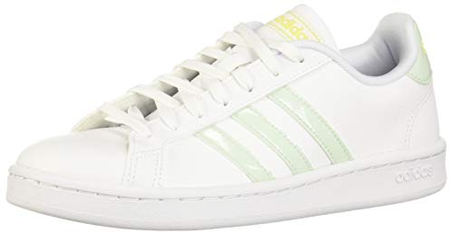 adidas Grand Court, Scarpe da Tennis Donna, Ftwr White/Dash Green/Shock Yellow, 40 EU