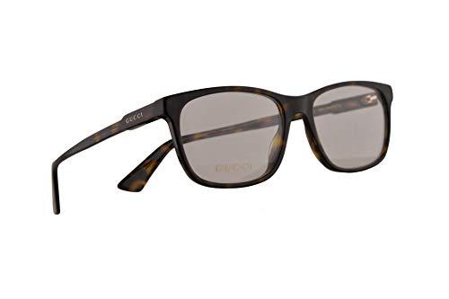 Gucci GG0490O Brillen 55-17-150 Braun Havana Mit Demonstrationsgläsern 007 GG 0490O