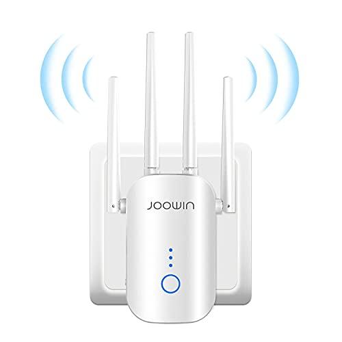 JOOWIN WLAN Repeater 1200 Mbit/s WLAN Verstärker 2,4GHz und 5GHz Dual Band, WiFi Range Extender Unterstützung AP/Repeater/Router/Client Modus, Ethernet Port