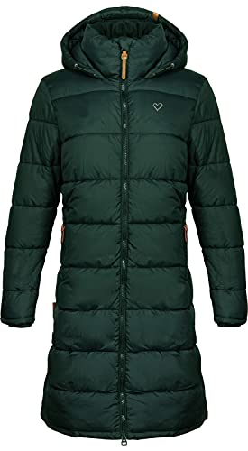 Alife and Kickin JunaAK Frauen Wintermantel dunkelgrün L 100% Nylon...