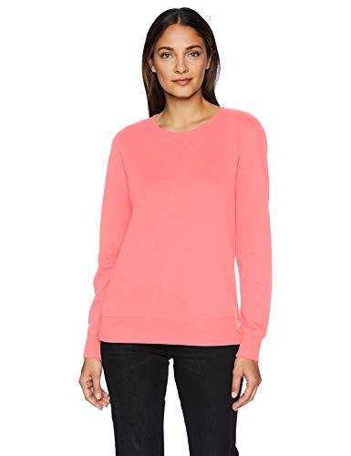 Amazon Essentials French Terry Fleece Crewneck athletic-sweatshirts, Helles Korallenrot, L