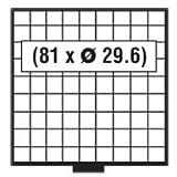 1x SAFE 6109 BEBA SCHUBLADE / MÜNZSCHUBLADE - 81 x 29,6 QUADRATISCHEN VERTIEFUNGEN FÜR MÜNZEN BIS 29,6 mm & MÜNZKAPSELN BIS CAPS 23,5 ---- FÜR MÜNZKASTEN...