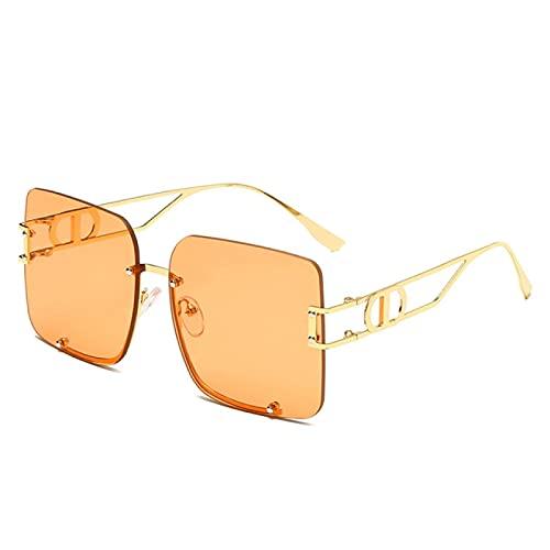 Gafas de Sol Gafas De Sol De Mariposa De Gran Tamaño A La Moda, Gafas De Sol Vintage con Marco De Metal De Aleación, Gafas De Lujo para Hombres Y Mujeres, Uv400 C7