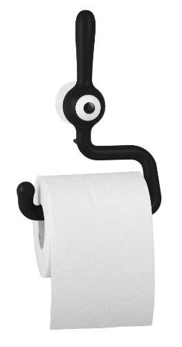 koziol Toilettenpapierhalter  Toq,  Kunststoff, solid schwarz, 5 x 14,4 x 19,2 cm