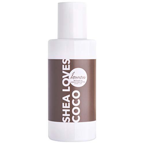 Loovara SHEA LOVES COCO – Olio da massaggio e per il corpo (100 ml) | olio naturale nutriente con sheabutter e olio di cocco | Preliminari, Massaggio di coppia | adatto per sex toys