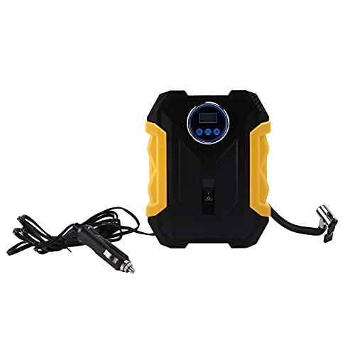 Wivarra Portable Air Compressor for Car Tires Digital Tire Inflator 12V with Emergency LED Flashlight for Cars, Bikes