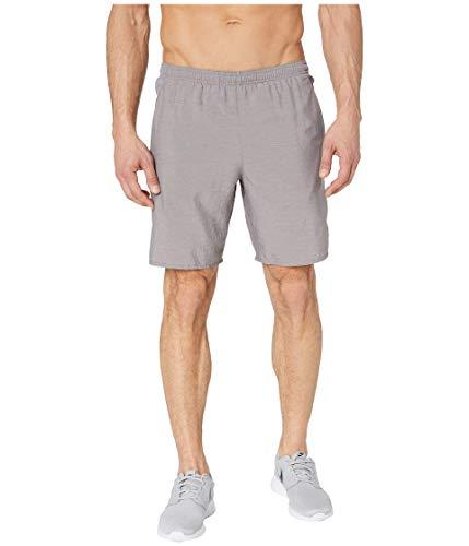 Nike Men's Dri-FIT Challenger 9'' Running Shorts (Gnsmke/HTR/MTLC Silver, Small)