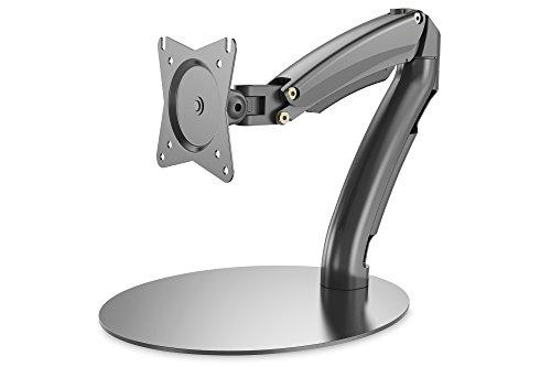 DIGITUS Monitor-Halterung - Standfuß & Gasdruckfeder - 1 Monitor - Bis 27 Zoll - Bis 1x 6.5 kg - VESA 75 & 100 - Schwarz