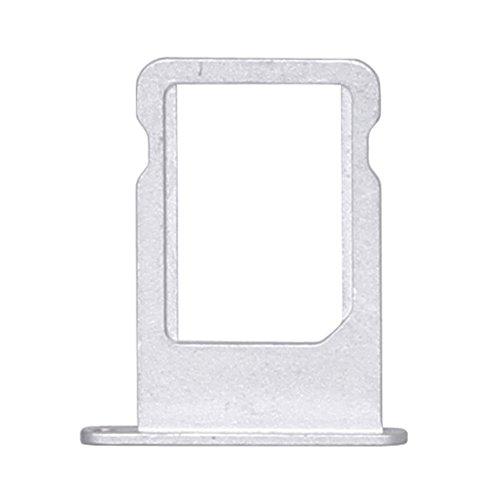 jbTec SD-Card/SIM-Tray/Halter passend für Apple iPhone 5/5s/SE - Slot Karte Schlitten Rahmen Holder Handy Card Ersatz, Farbe:Silber