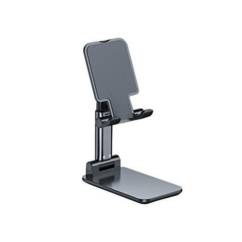 Phone Tablet Stand, Foldable Adjustable Compact Desktop Phone Tablet Stand Holder Cradle Dock, compatible with Super Stable for i Pad, Tablet, i Phone Xs Xr 8 X 7 6 6s Plus Blue