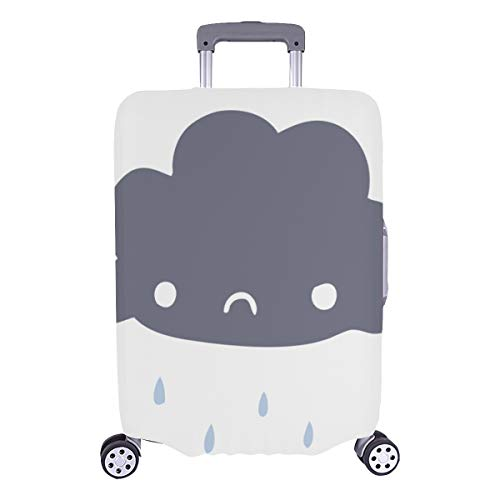 Luggage Covers For Kids Happy Clouds With Face Expression Durable Washable Protecor Cover Fits 28.5 X 20.5 Inch Cover Luggage Set Suitcases Protector Best Luggage Cover