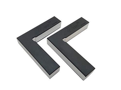 Fladess 90-Grad-Positionierungswinkel, Aluminiumlegierung, rechtwinklige Klemmen, Holzbearbeitung, Tischler, auch für Bilderrahmen, Kisten, Schubladen, L (2 Stück)