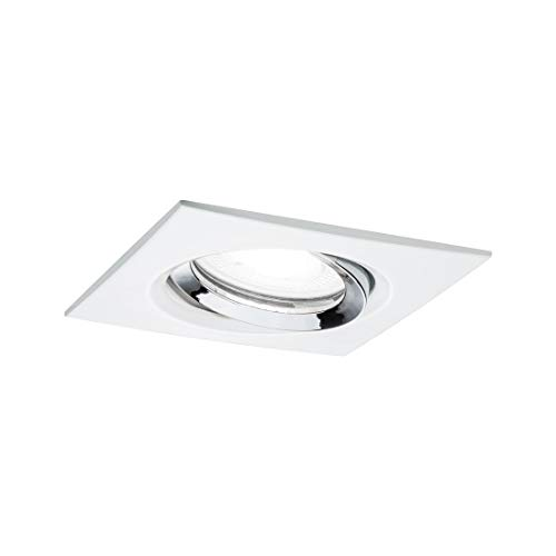 IP65 salle de bains Downlight carrée blanche GU10 5//7 W COB Ampoule DEL K3000 Chaud
