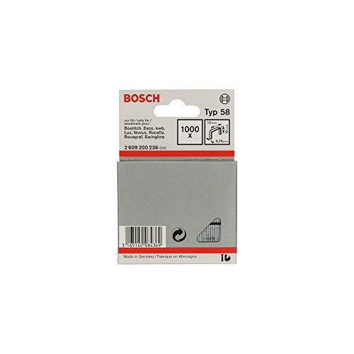 Bosch Professional 2609200236 1000 Tackerkla mmern 10/13 mm Typ58