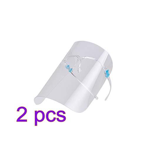 Hemoton 2 Stück Sicherheitsgesichtsschutz Anti-Fog Splash Vollgesichtsschutz Durchsichtiges Plastikvisier Augengesichtsschutz für Die Büroküche im Freien Zufällige Farbe
