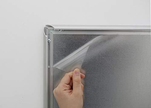 DISPLAY SALES Antireflex PET-Schutzfolie DIN A3 (5 Stück) 0,5 mm dick Ersatzfolie Klapprahmen Plakatrahmen