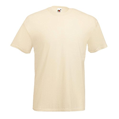 Fruit of the Loom - Classic T-Shirt 'Value Weight' XXL,Natural