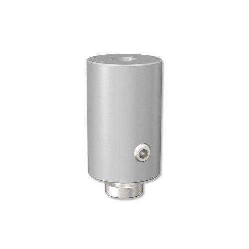 INTERDECO Deckenträger 2,5 cm Abstand Silbergrau für Gardinenschienen/Innenlaufstangen in 20 mm Ø, Sonius (2 Stück)