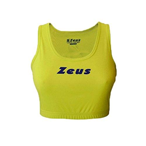 Zeus Frau Tank Top Relax Volley Fußball Korb Fußball, WM Beach Pro, Herren Damen Kinder, FLUOYELLOW